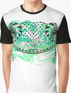 Zentangle stylized frog with abstract  colorful grunge background Graphic T-Shirt