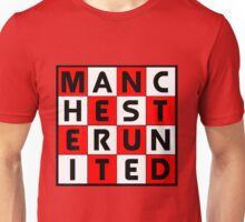 Manchester United red white and black Unisex T-Shirt