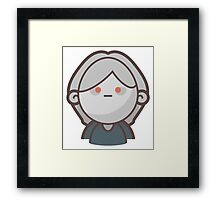 Mini Characters - Possessed Girl  Framed Print