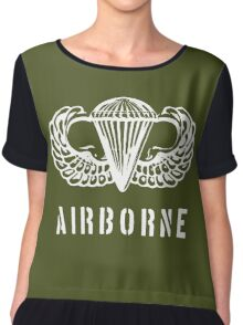 US airborne parawings - white Chiffon Top
