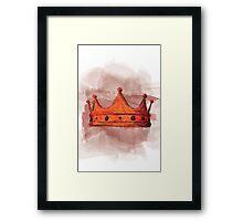 The Bloody Crown || Macbeth  Framed Print