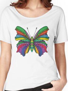 Beautifull zentangle stylized butterfly Women's Relaxed Fit T-Shirt