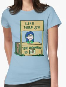 Life helper - vintage version Womens Fitted T-Shirt