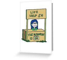 Life helper - vintage version Greeting Card
