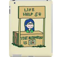 Life helper - vintage version iPad Case/Skin