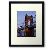 John A Roebling Bridge 1867 Framed Print