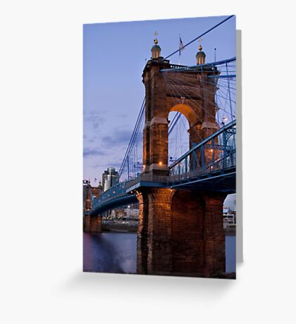 John A Roebling Bridge 1867 Greeting Card