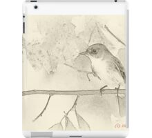 Flycatcher sumi-e iPad Case/Skin