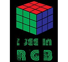 I see in RGB Photographic Print