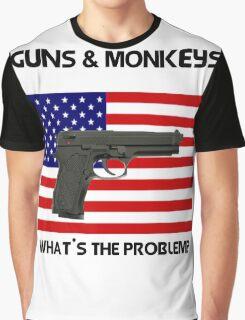 USA & Guns, what's the problem? Graphic T-Shirt