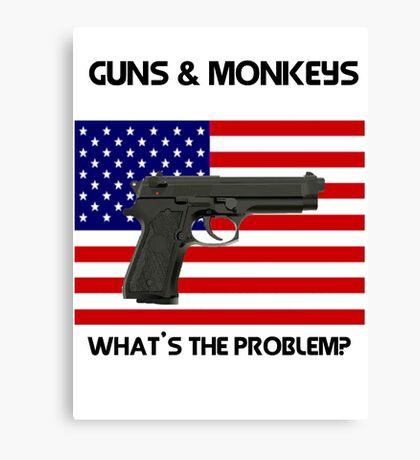 USA & Guns, what's the problem? Canvas Print