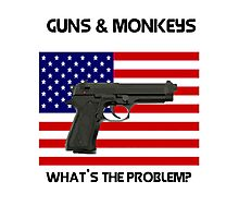 USA & Guns, what's the problem? Photographic Print