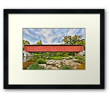 Cataract Falls Covered Bridge over Mill Creek Framed Print