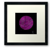 purple velvet triple moon Framed Print