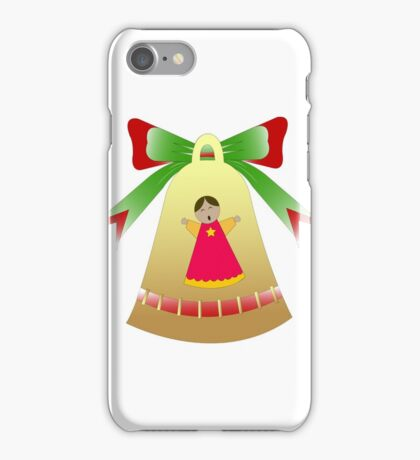 Golden bell with choirboy  iPhone Case/Skin