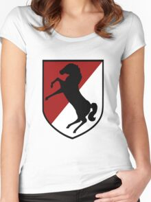 11th Armored Cavalry Regiment (US Army) Women's Fitted Scoop T-Shirt