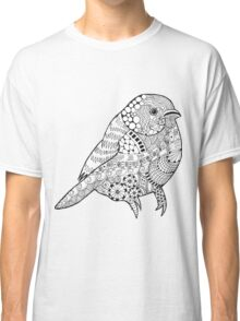 Hand drawn doodle sparrow. Classic T-Shirt