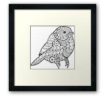 Hand drawn doodle sparrow. Framed Print