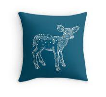 Dear Deer, Steel Blue Throw Pillow
