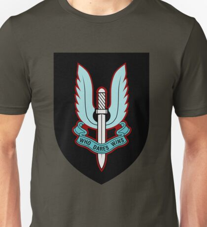 Special Air Service (Blue - Black Shield) Unisex T-Shirt