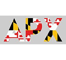 Alpha Rho Chi in Maryland Flag Photographic Print