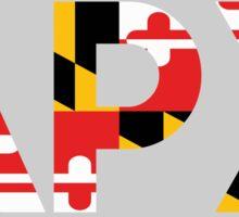Alpha Rho Chi in Maryland Flag Sticker