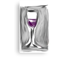 Grab A Glass, I Just Opened A New Box Canvas Print