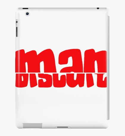 Half Man Half Biscuit RED iPad Case/Skin