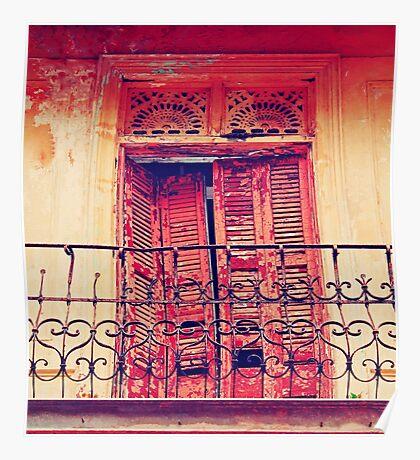 Casco Antiguo, Panama-- Old Door #3 Poster
