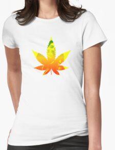 Legalize weed marijuana ganja Bob Marley shirt rastafari Womens Fitted T-Shirt