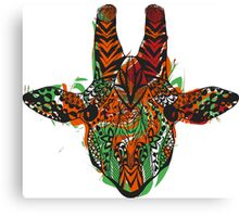 Hand drawn zentangle stylized giraffe Canvas Print
