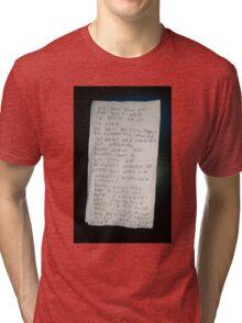 Death Grips Goodbye Note Tri-blend T-Shirt