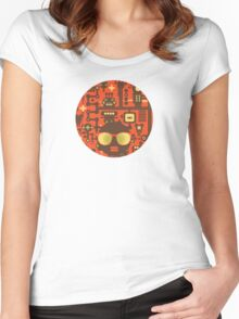 Robots red Women's Fitted Scoop T-Shirt