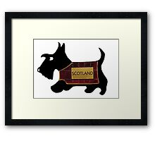 Commonwealth Games Opening Ceremony Scottie Dog 'Scotland' Framed Print