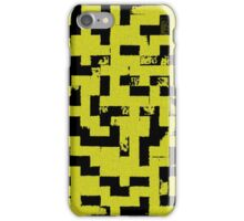 Line Art - The Bricks, tetris style, yellow and black iPhone Case/Skin