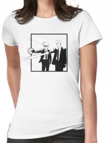 Spirit Fiction   Black & White Edition Womens Fitted T-Shirt