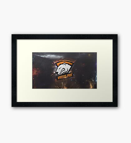 Virtus.pro Wallpaper Framed Print