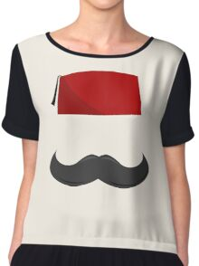 Man with a Fez Chiffon Top