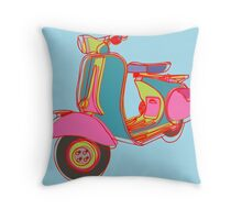 Motoneta Throw Pillow