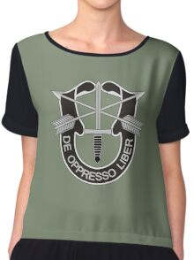 Special Forces - insignia (United States Army) Chiffon Top