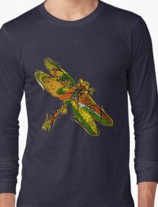 Beautifull hand drawn dragonfly Long Sleeve T-Shirt