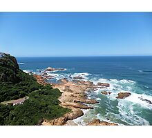 """Knysna """"Boulders"""" beach in South Africa with blue ocean Photographic Print"""