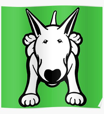 Updated English Bull Terrier Sprawl Poster