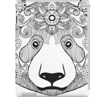 Cute black white panda bear iPad Case/Skin