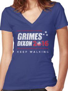 Vote Grimes Dixon Women's Fitted V-Neck T-Shirt