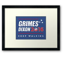 Vote Grimes Dixon Framed Print