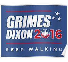 Vote Grimes Dixon Poster