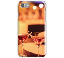 Martini glass on a table iPhone Case/Skin