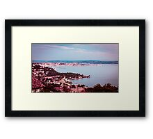 evening in the gulf of Trieste Framed Print