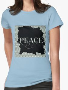 Peace.typography,,cool text,modern,trendy,pattern,design,contemporary art Womens Fitted T-Shirt